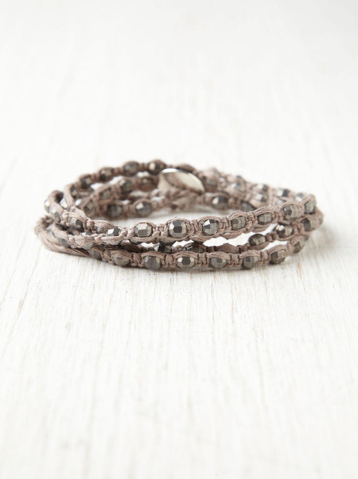 Coral Haze Wrap Bracelet