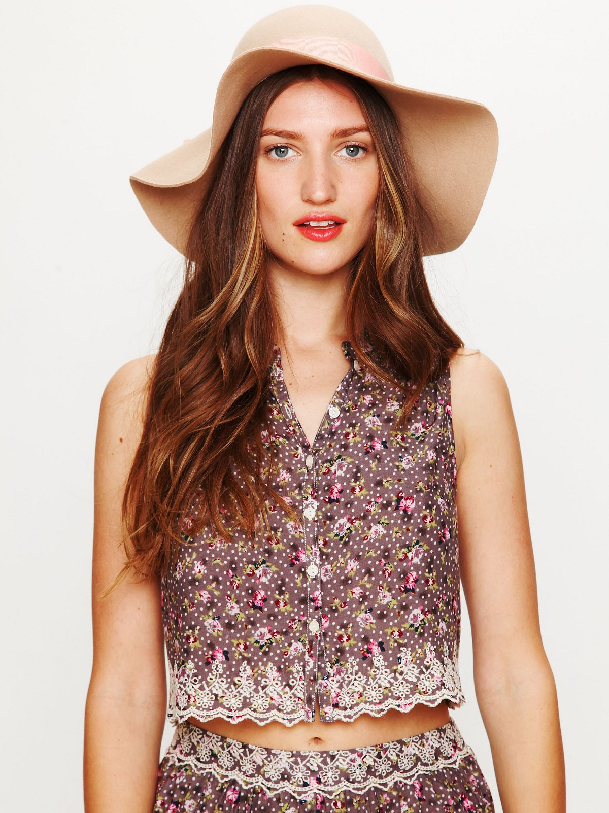 Daisy Eyelet Button Down