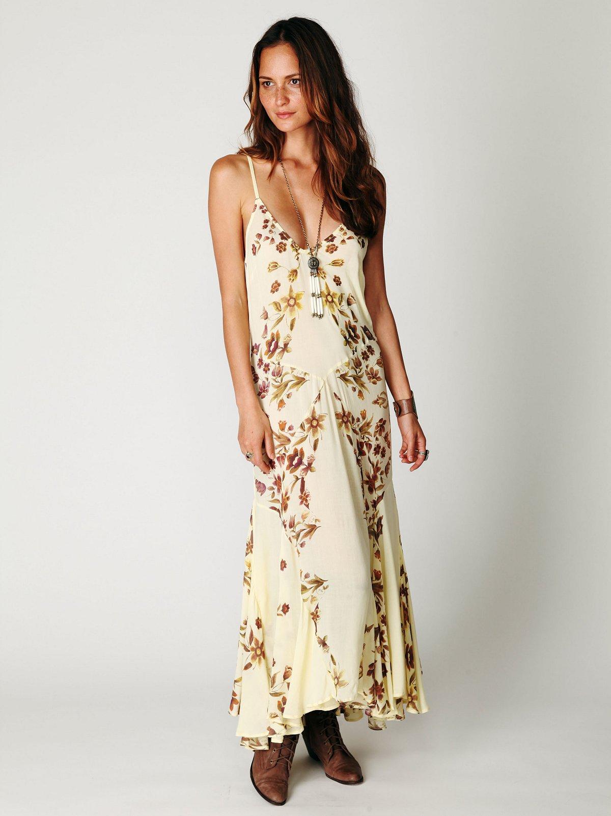 Flora Flared Maxi Dress