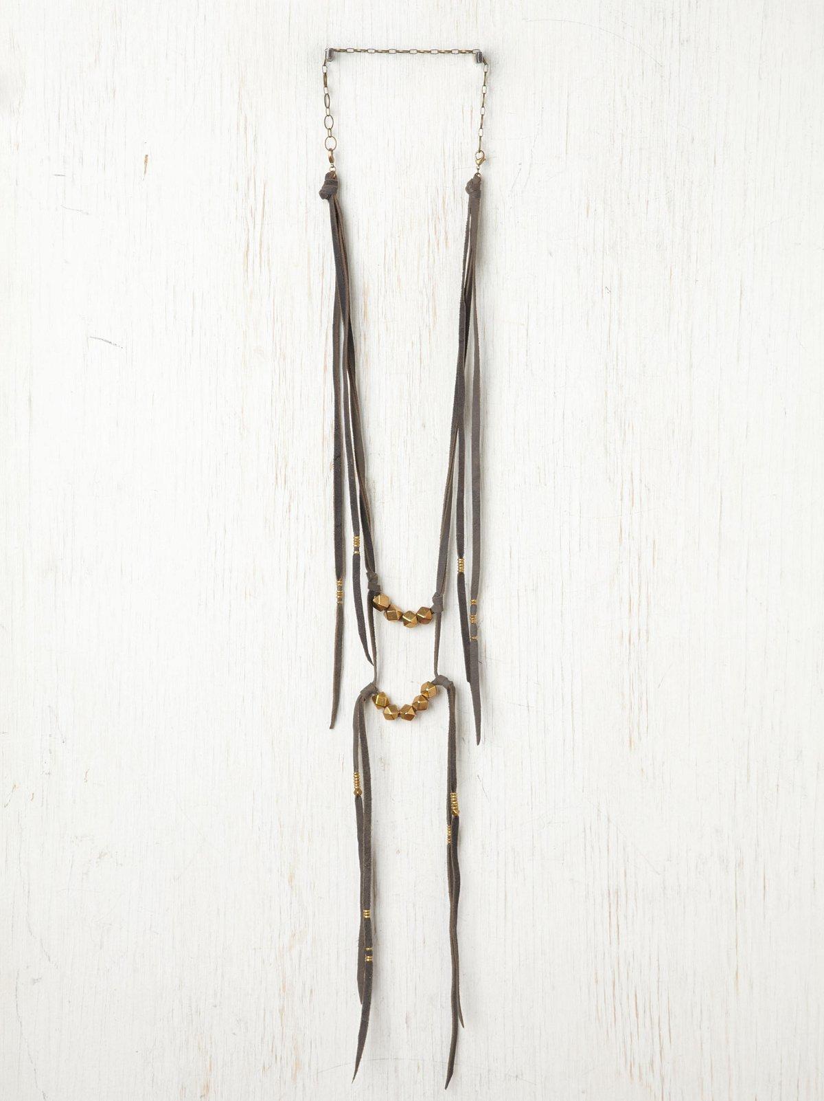 Bolt Suede Ladder Necklace