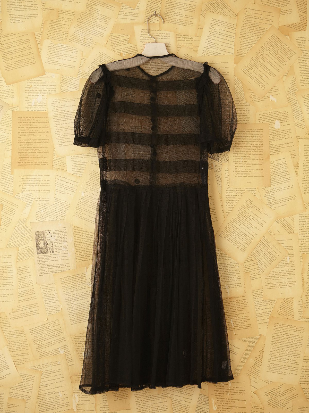 Vintage 1940's Sheer Net Dress