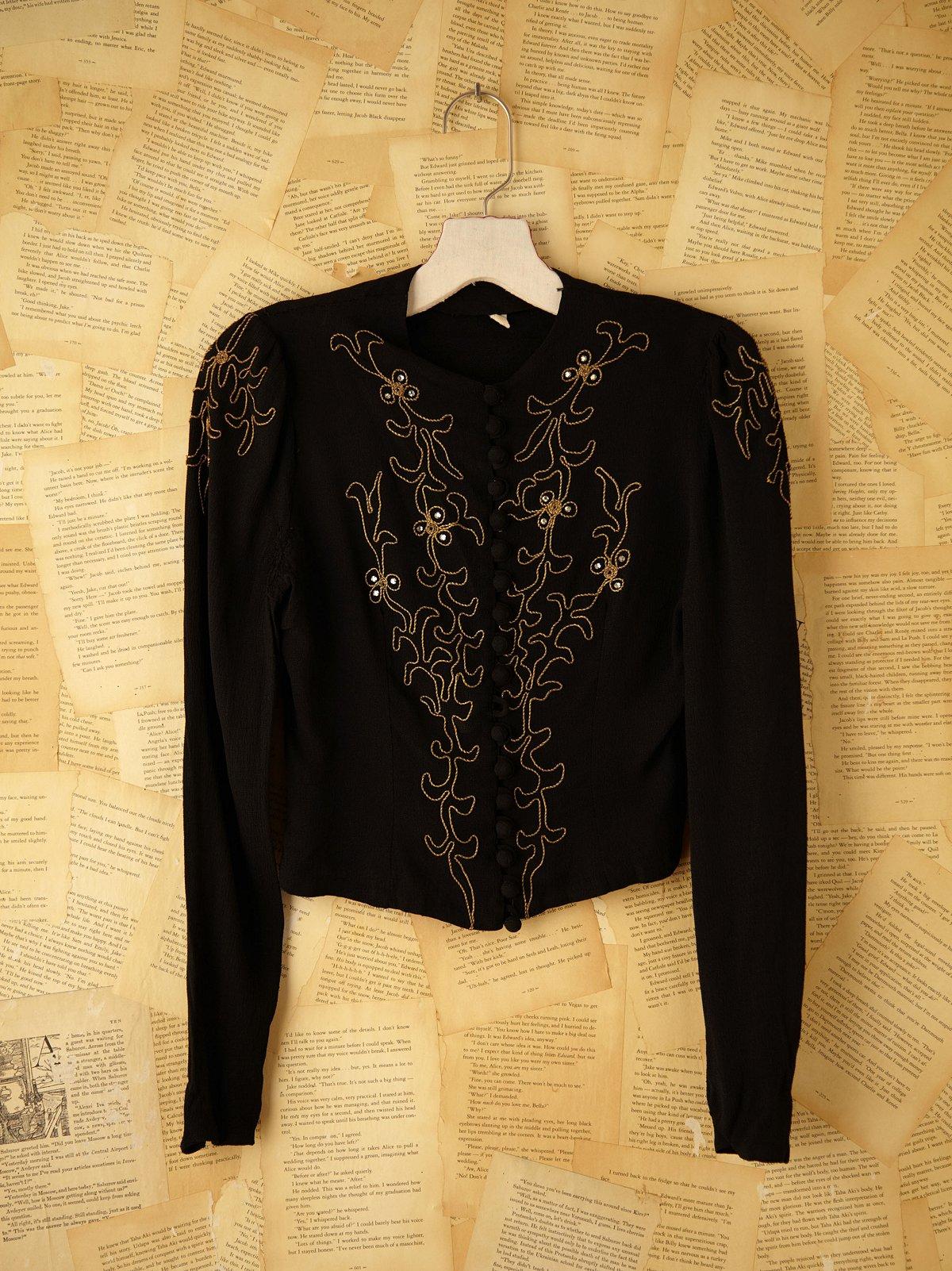 Vintage Embroidered Dress Top