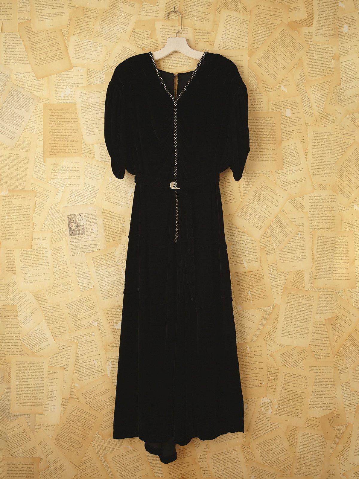 Vintage 1930s Velvet Dress