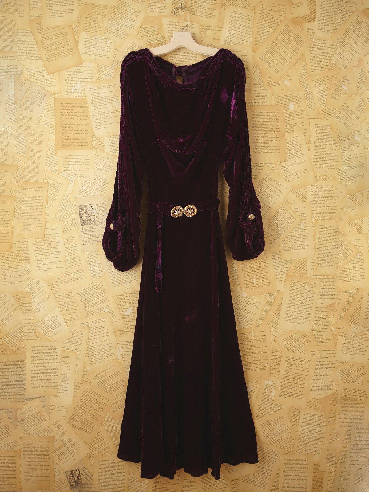 Vintage 1920s Crushed Velvet
