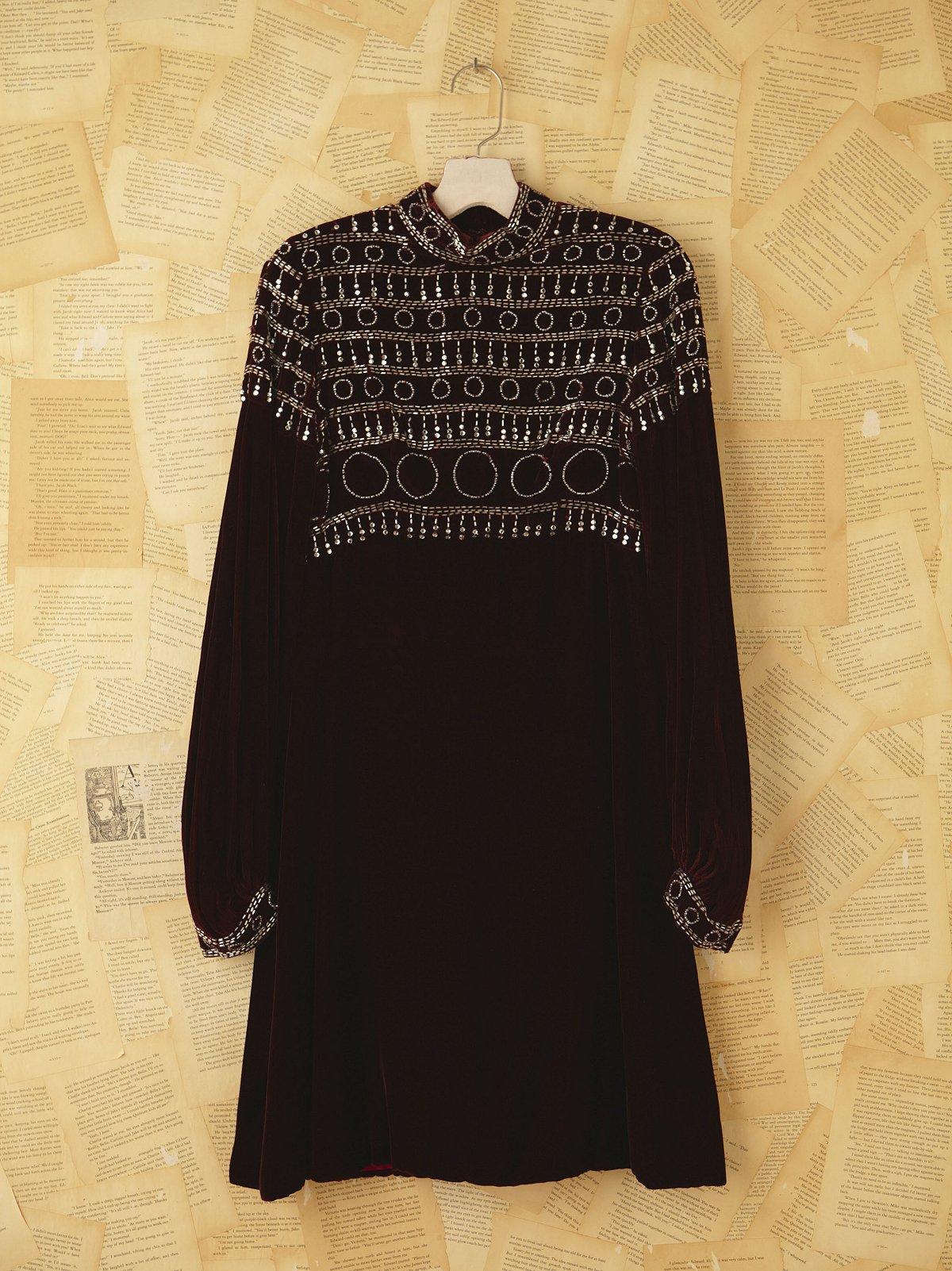 Vintage 1960s Velvet Party Dress