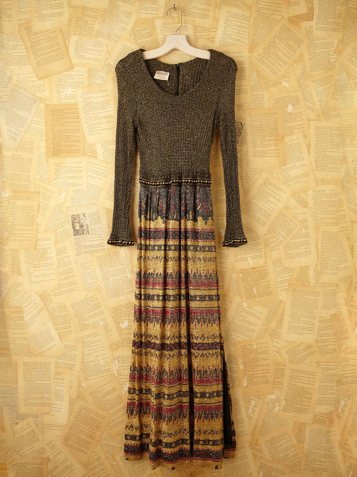 Vintage Metallic Knit Dress