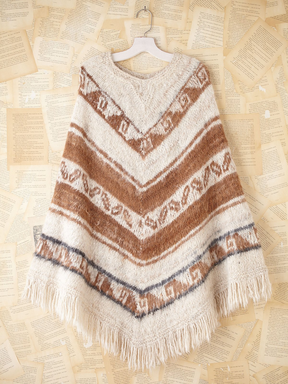 Vintage Bolivian Knit Poncho