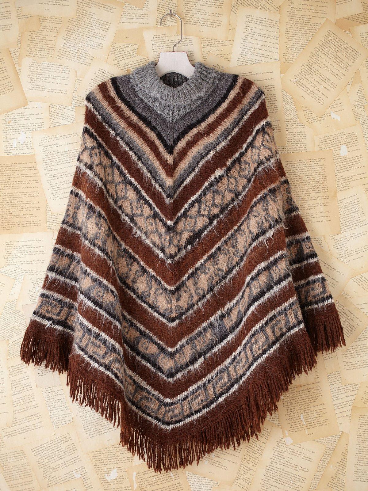 Vintage Knit Poncho