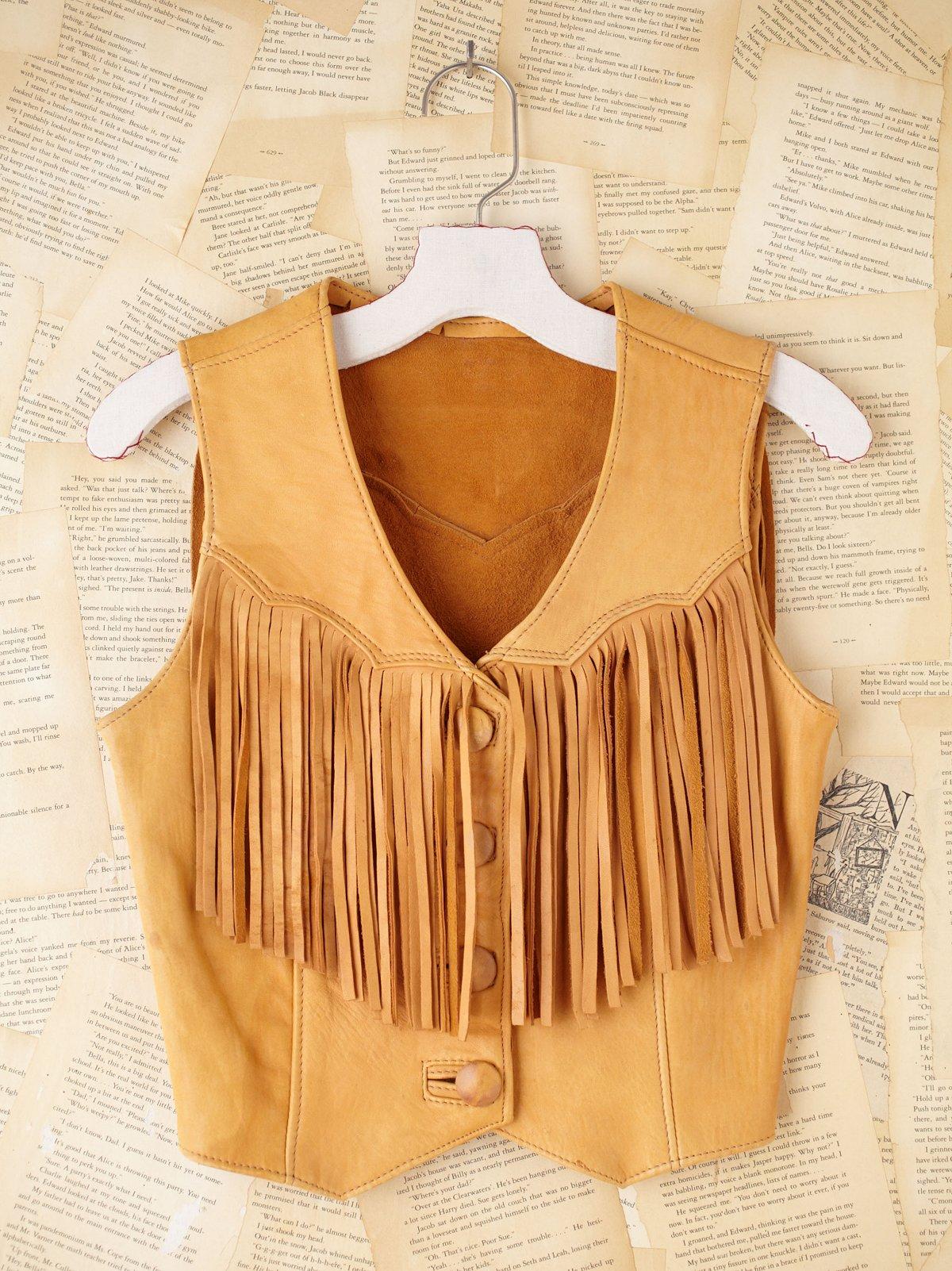 Vintage Fringe Vest