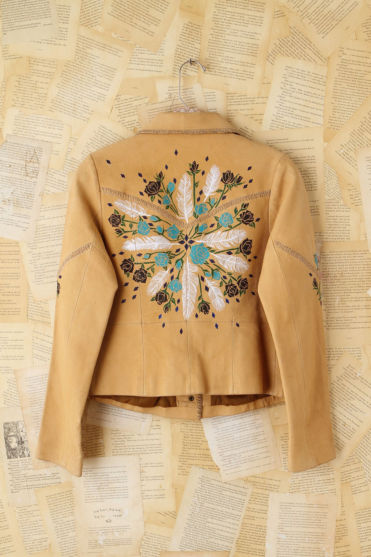 Vintage Wild Unknown Hand-Painted Leather Jacket
