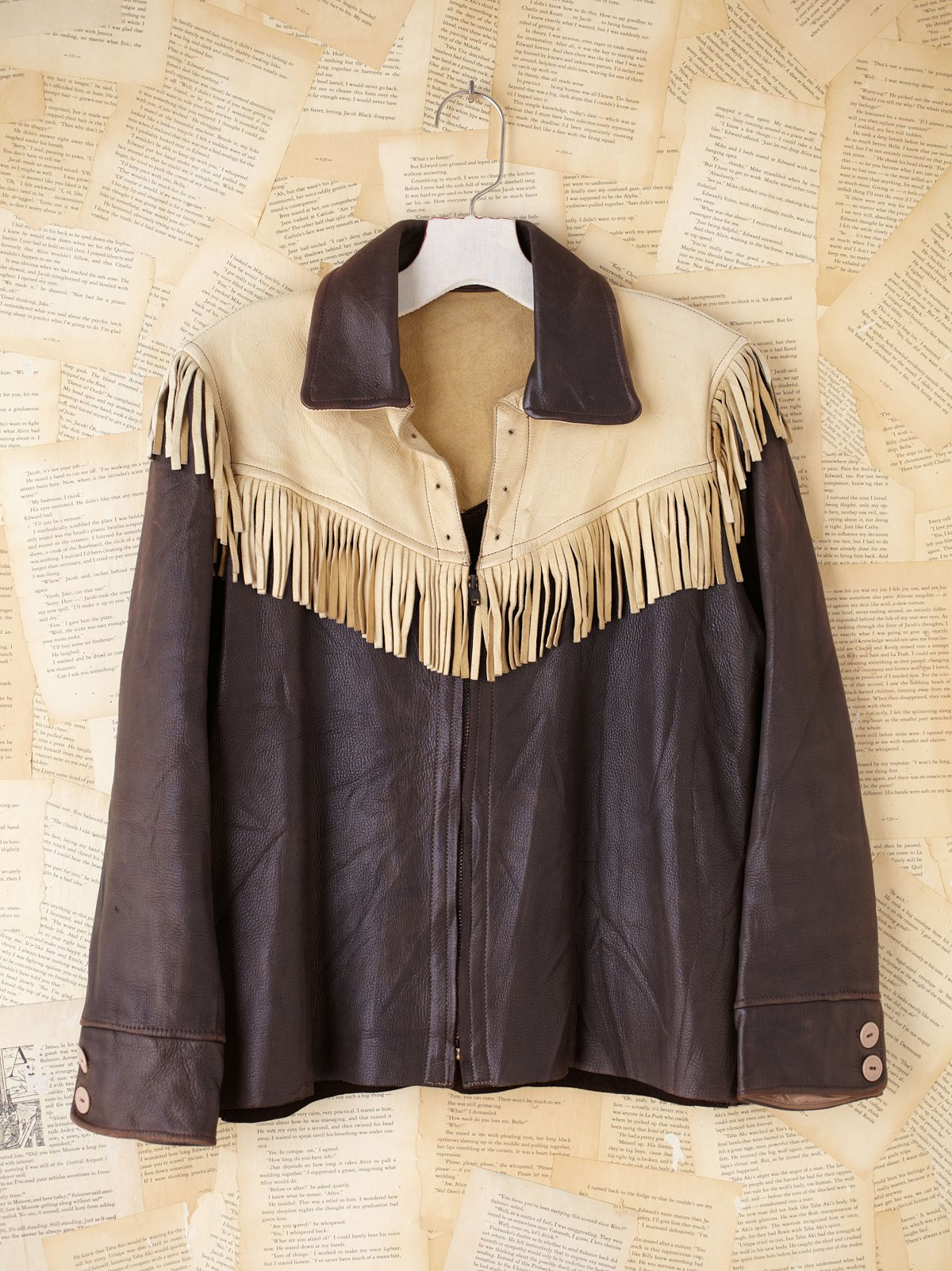 Vintage Two Tone Leather Top