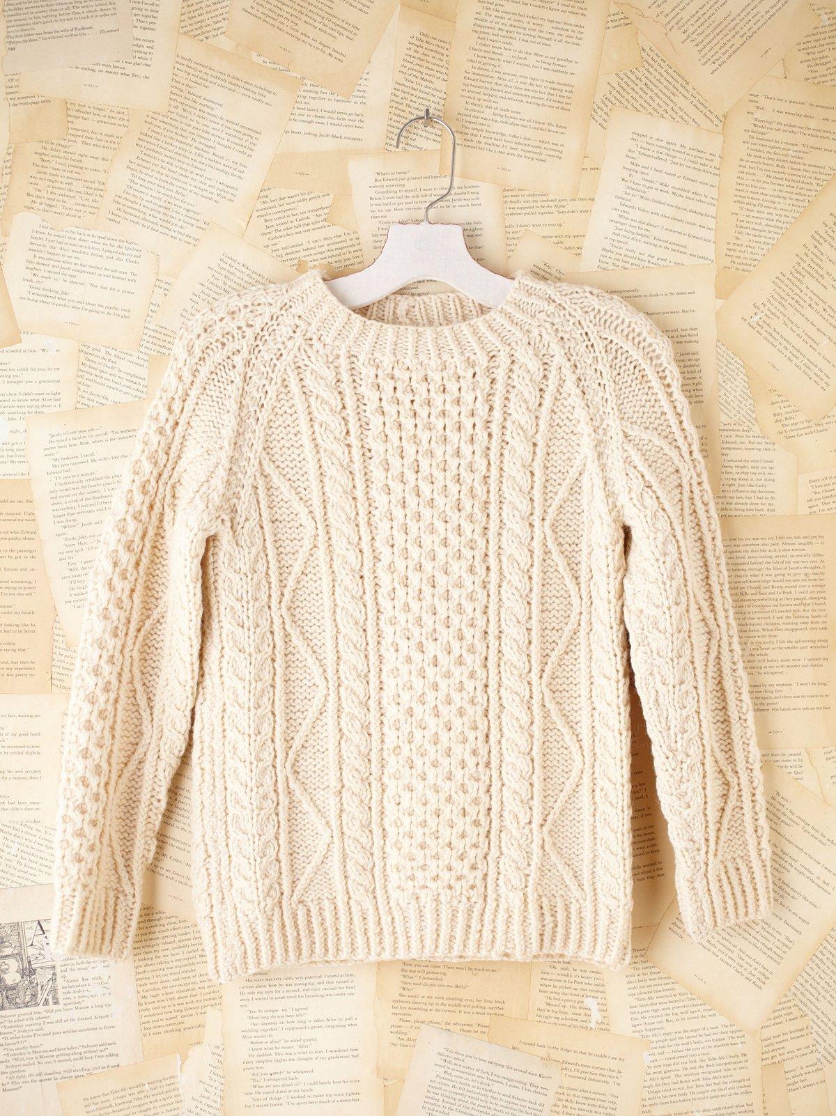 Vintage Hand Knit Aran Sweater
