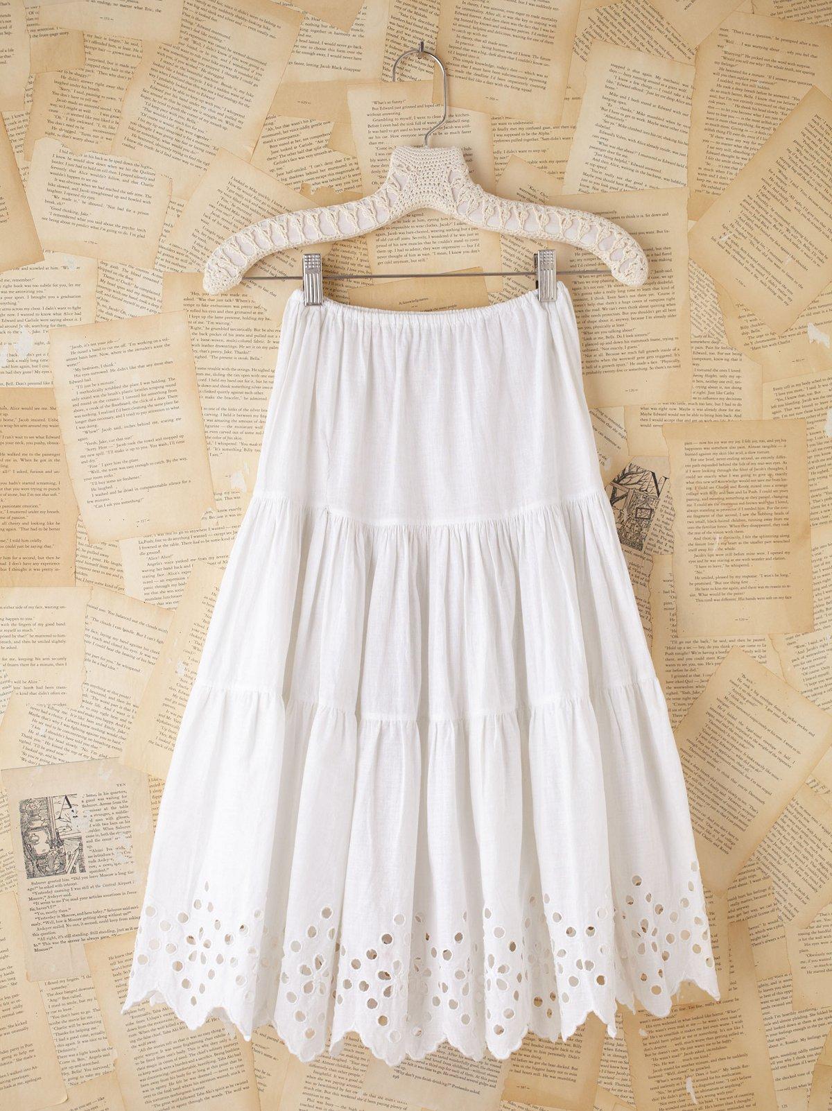 Vintage White Cotton Eyelette Slip