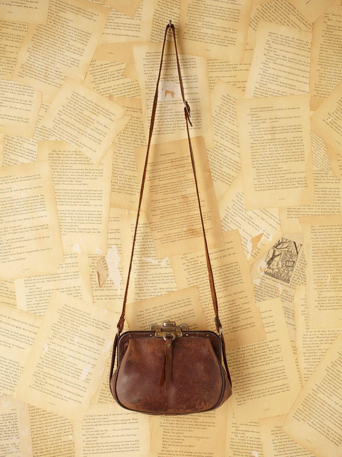 Vintage Leather Conductor Purse
