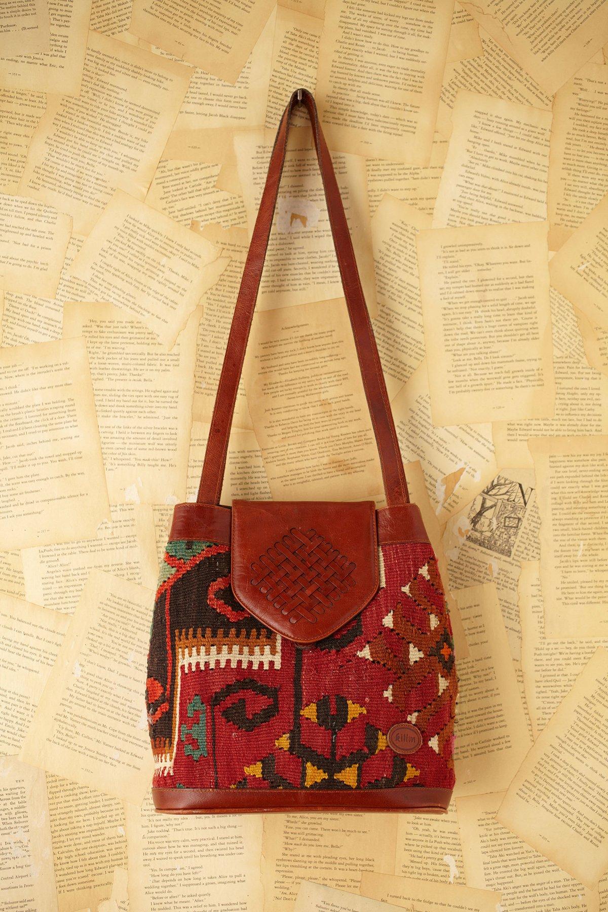 Vintage Woven Shoulder Bag