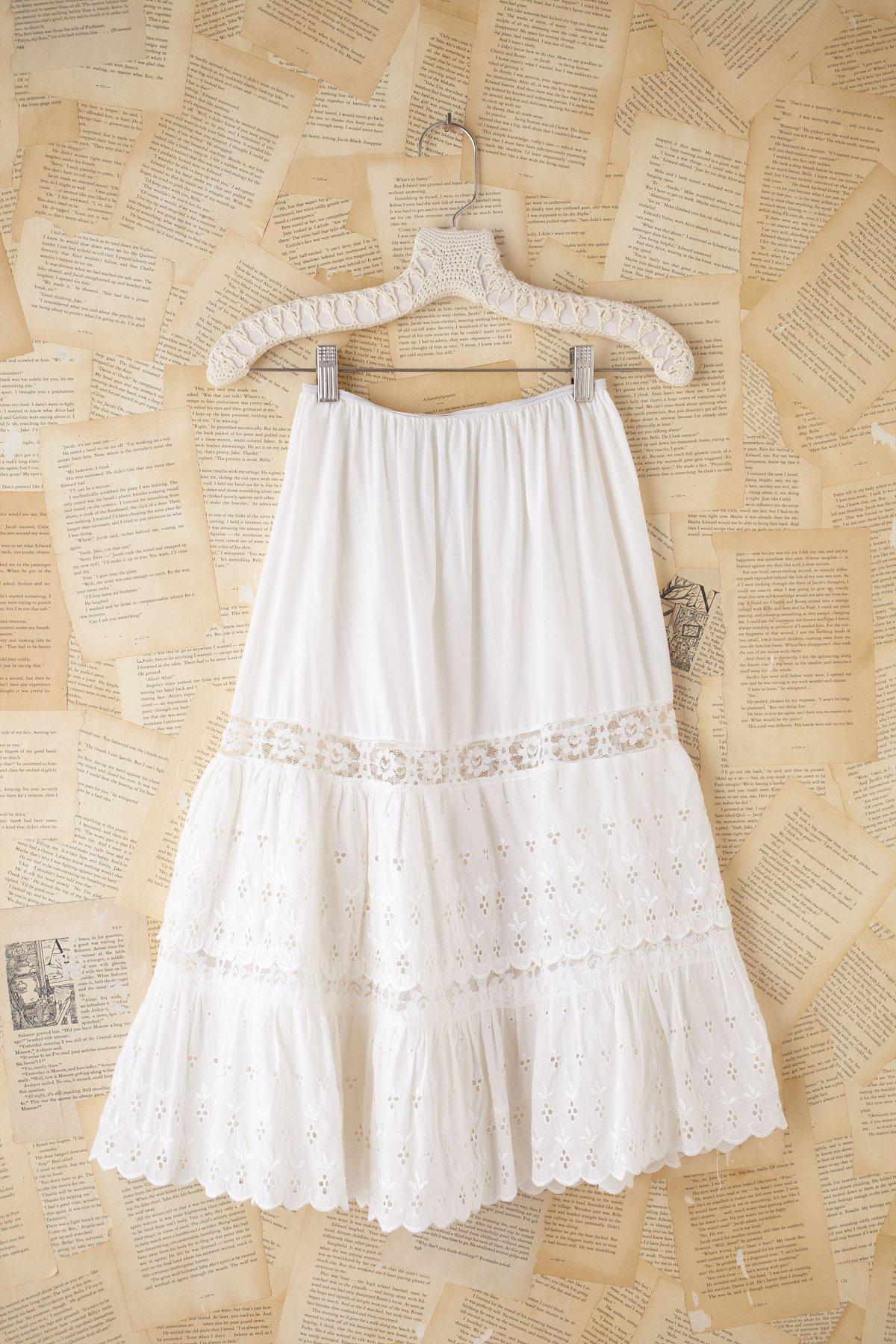 Vintage Eyelet Princess Skirt