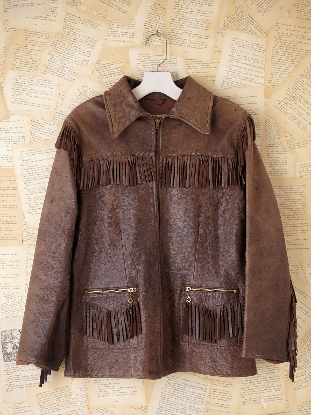 Vintage Leather Fringe Jacket