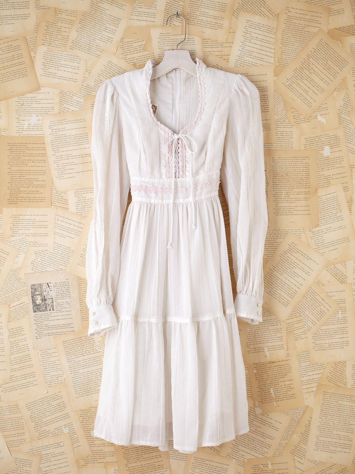 Vintage Cropped Gunne Sax Voile Dress