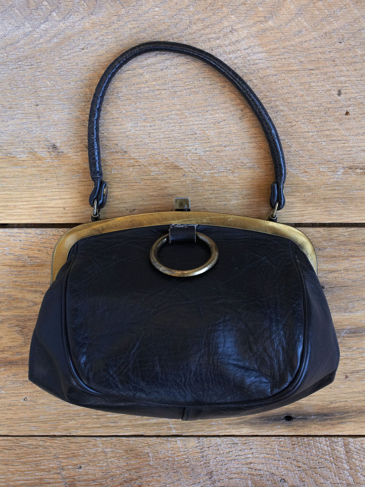 Vintage 1970s Leather Bag