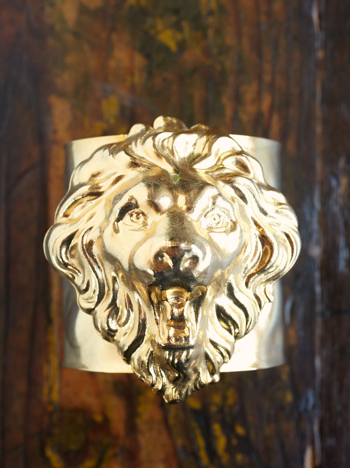 Vintage Lion Cuff Bracelet