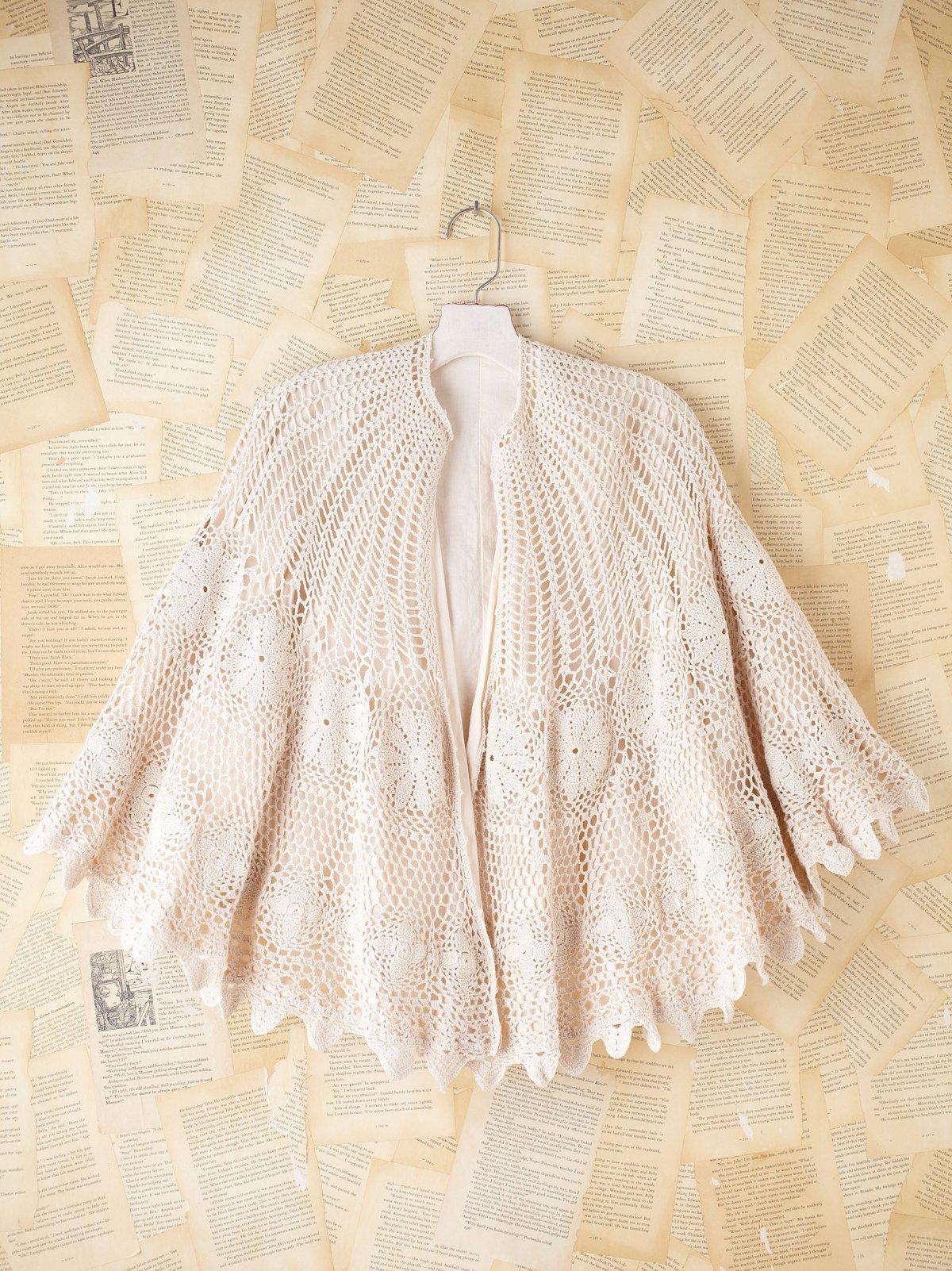 Vintage Crochet Caplet