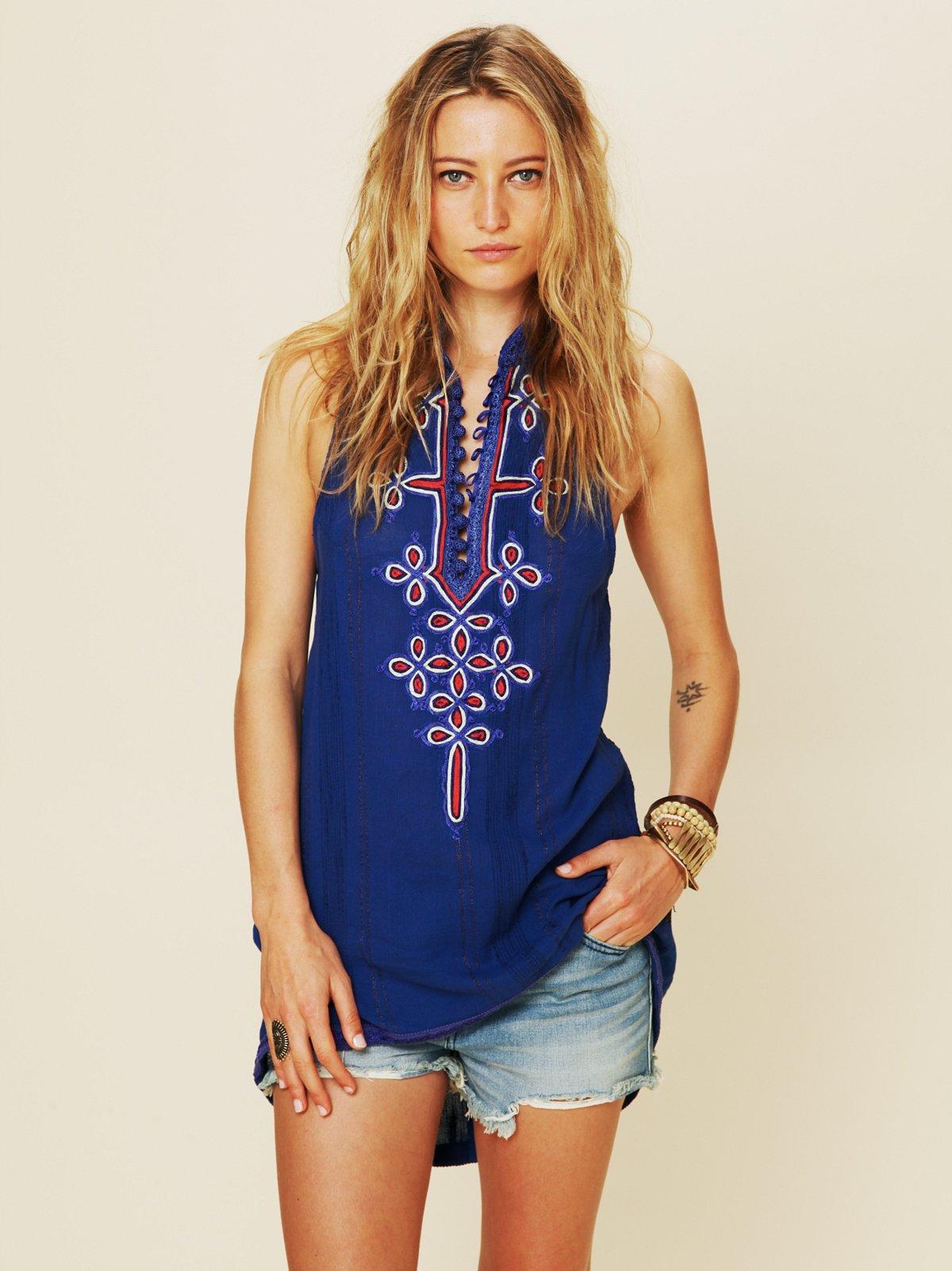 FP New Romantics Embroidered Tassel Tunic