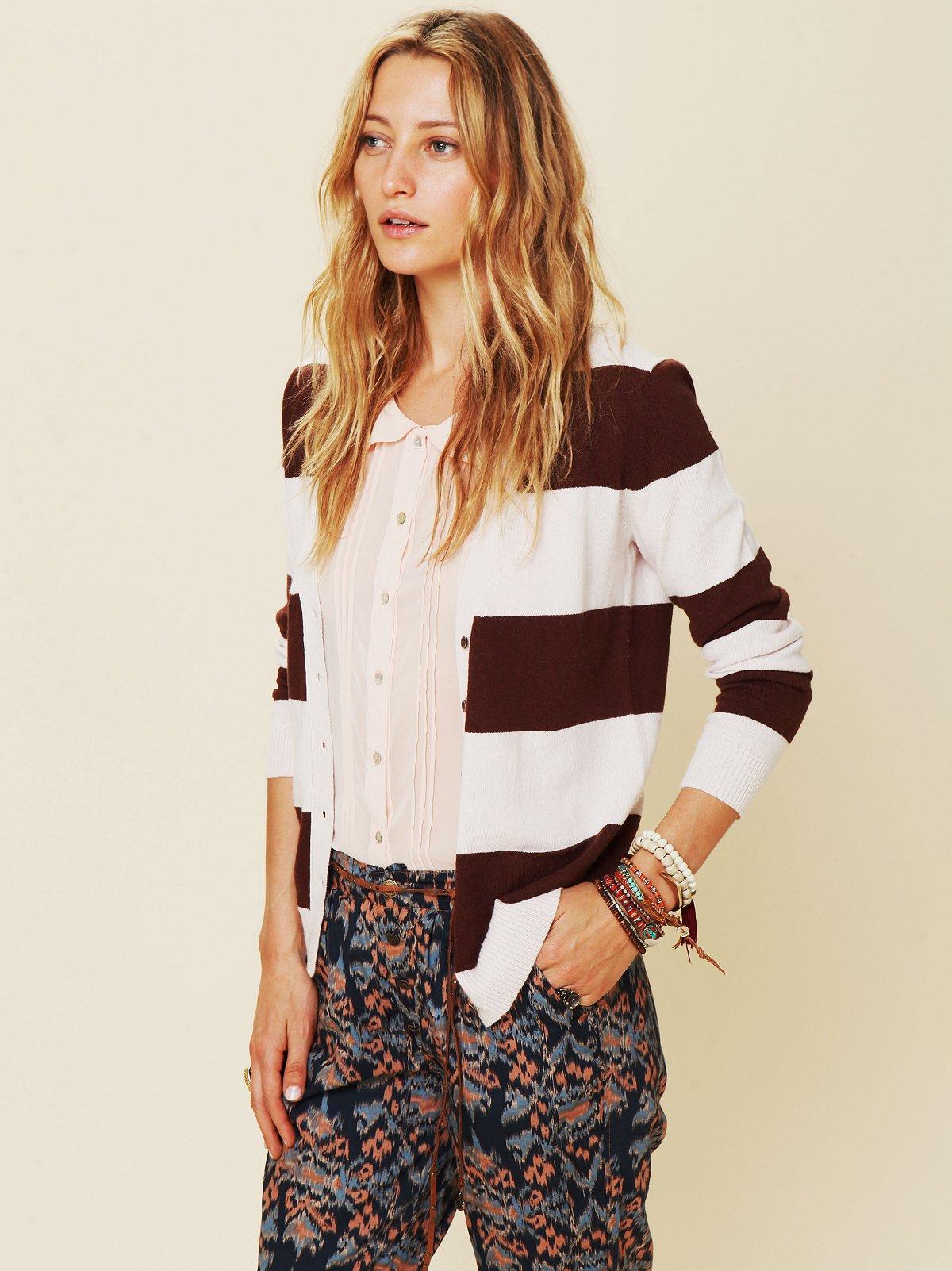 Cashmere Stripe Cardigan