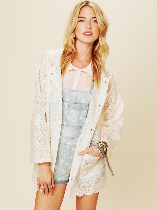 Printed Lace Raincoat