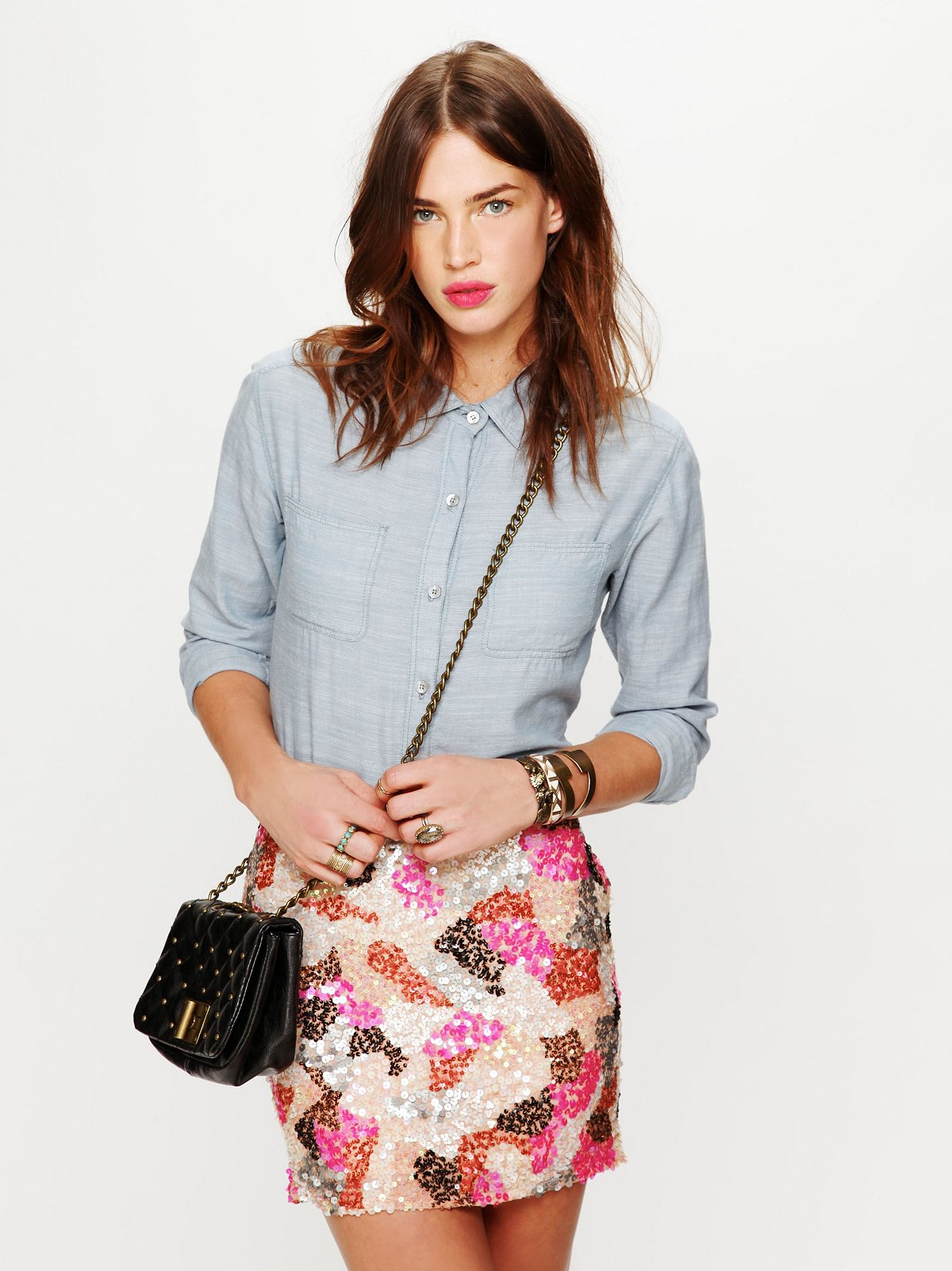 Dotted Mini Skirt