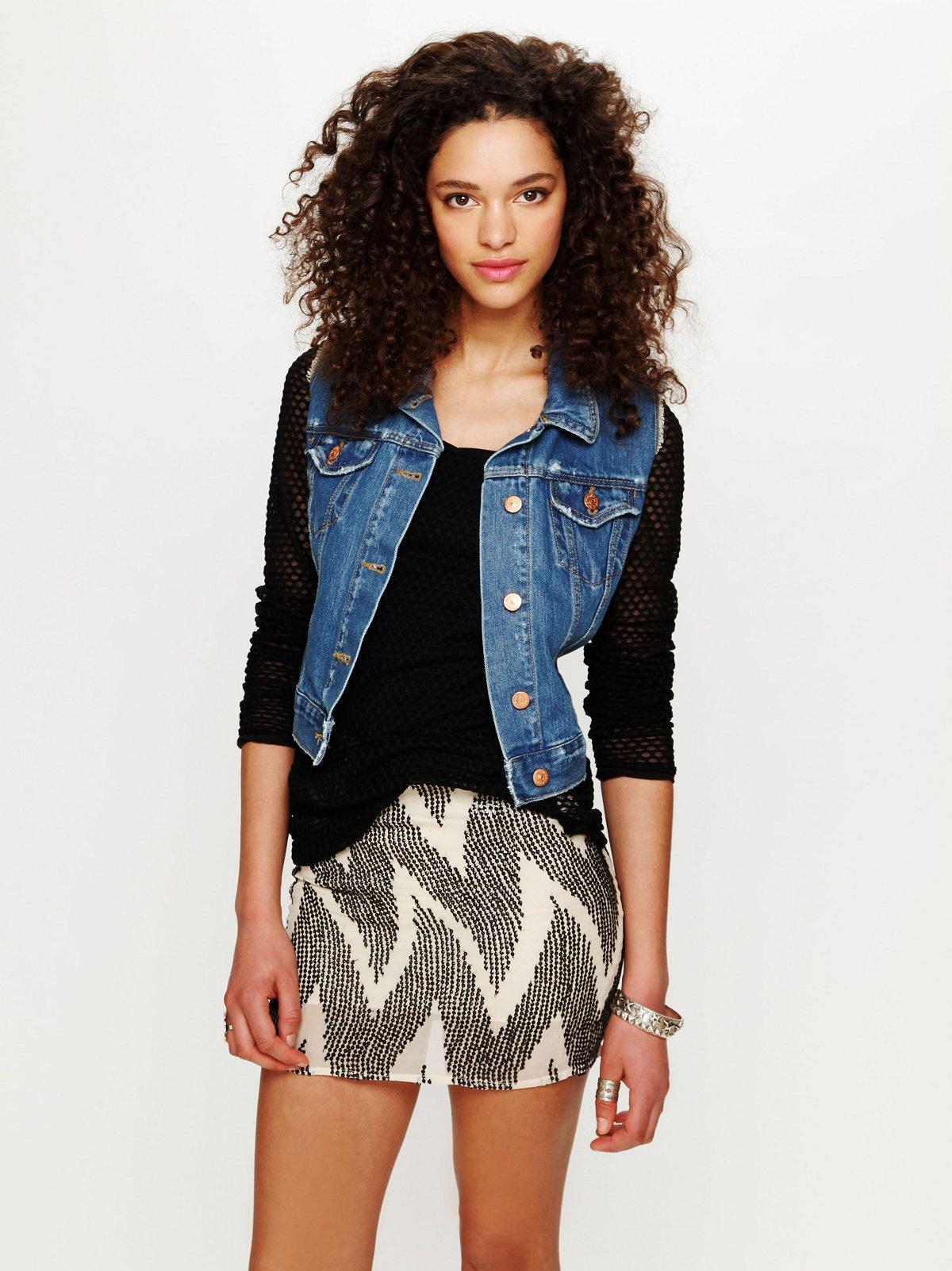 Zig Zag Mini Skirt
