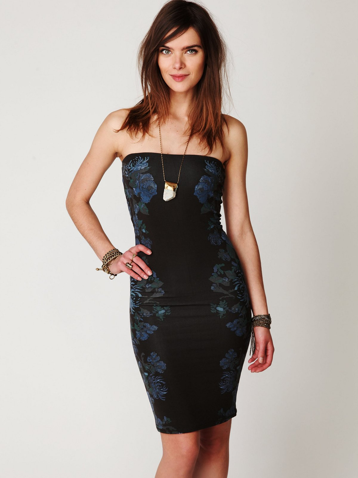 Blossom Knit Bodycon Tube Dress
