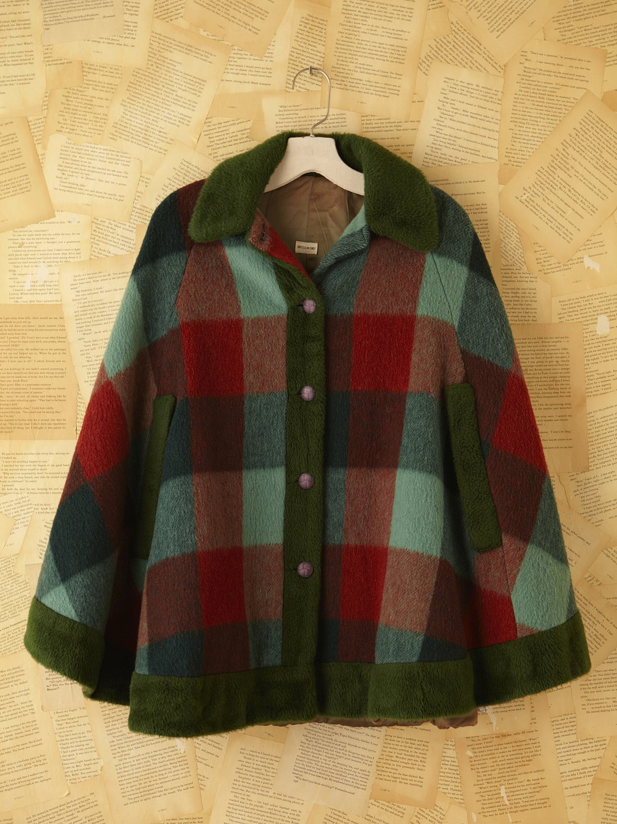 Vintage Plaid Cape