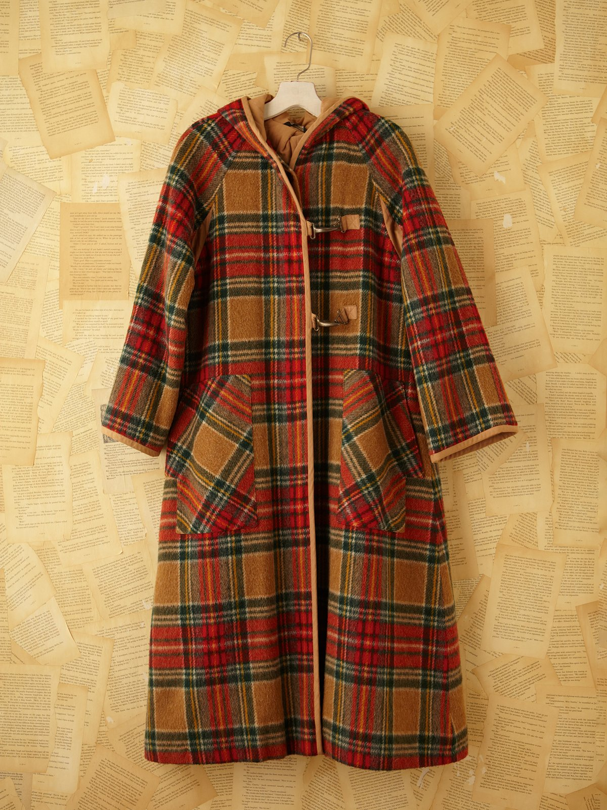 Vintage Plaid Trench