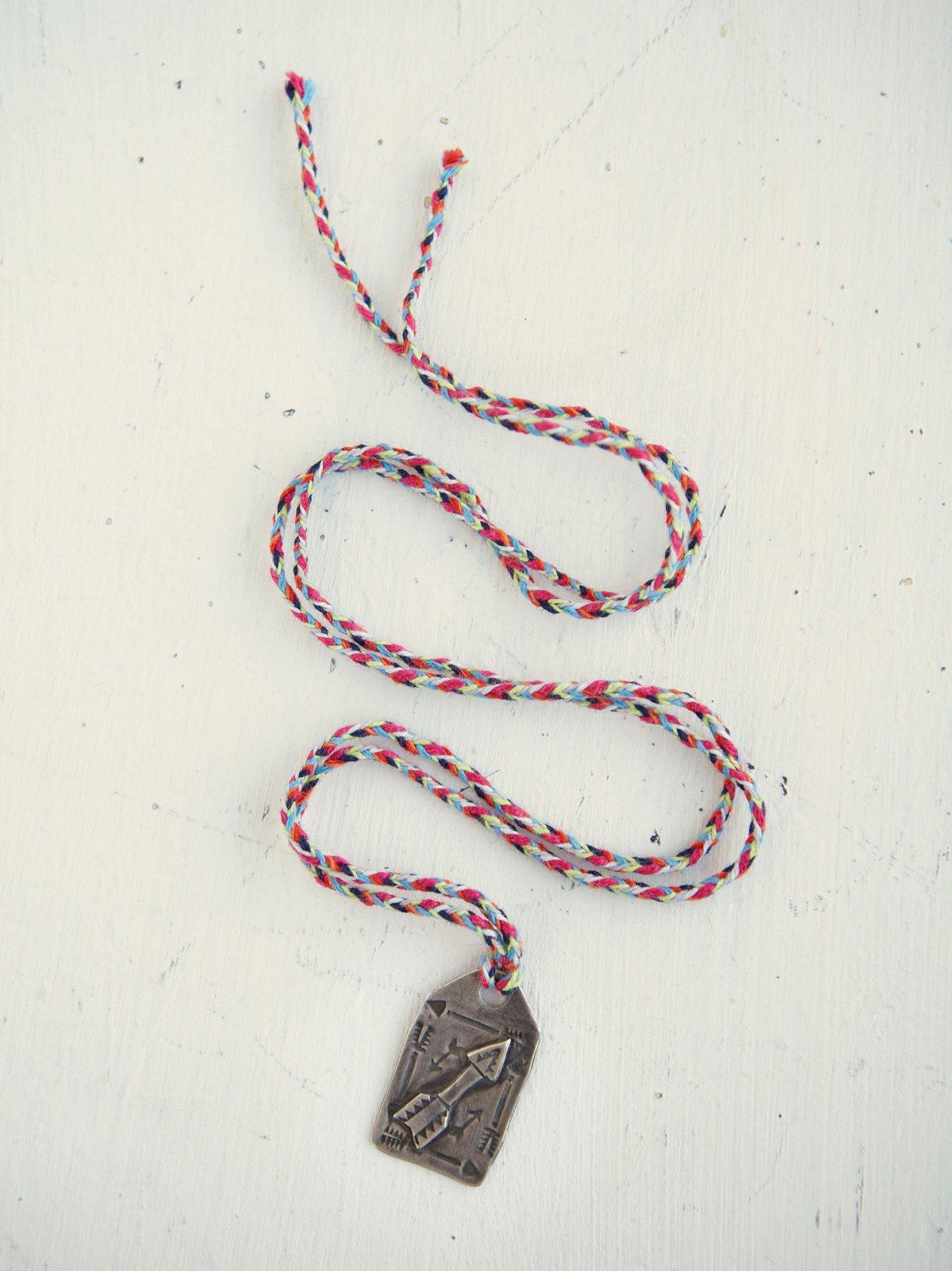 Vintage Tooled Pendant Necklace