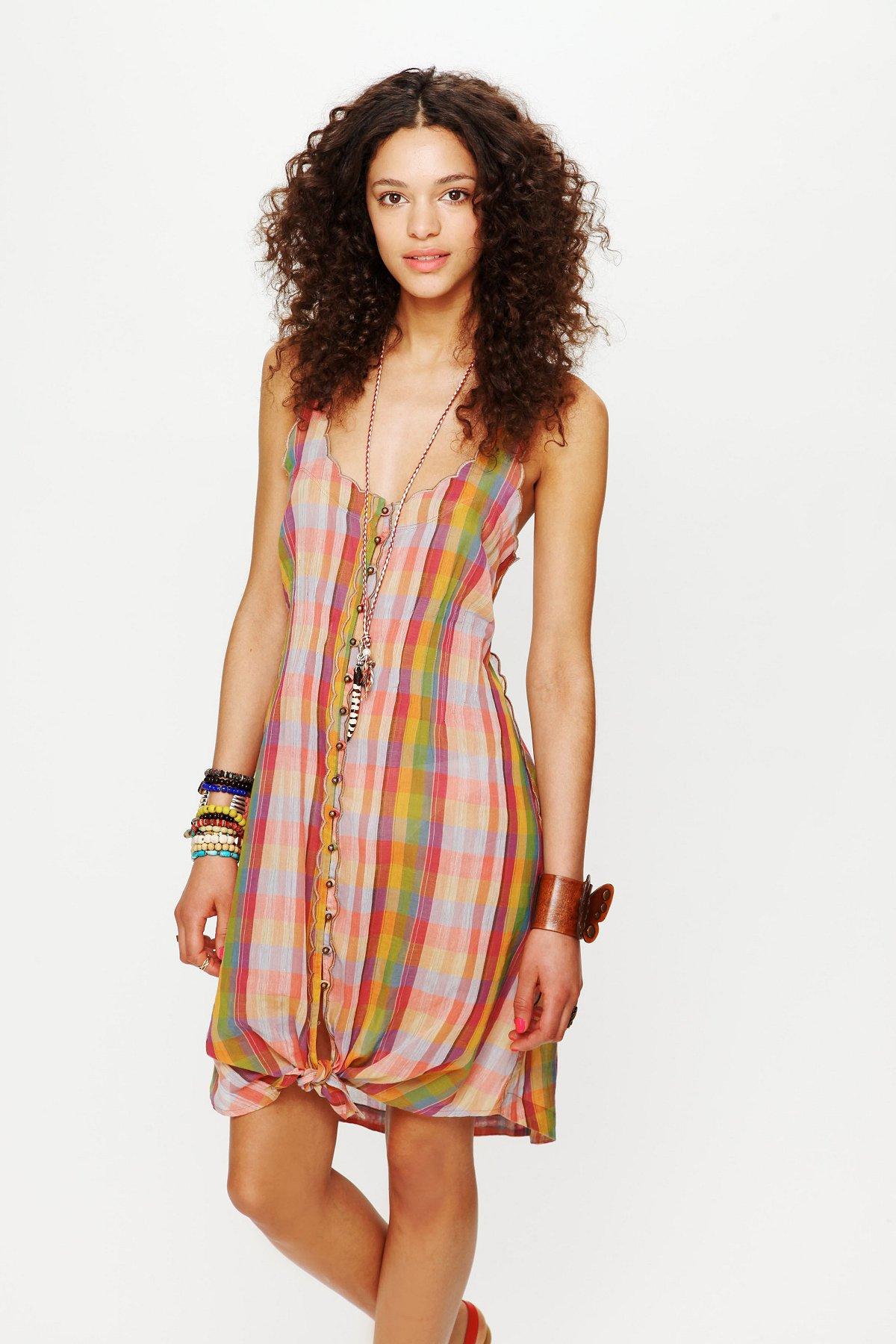 FP New Romantics Knotted Ikat Dress