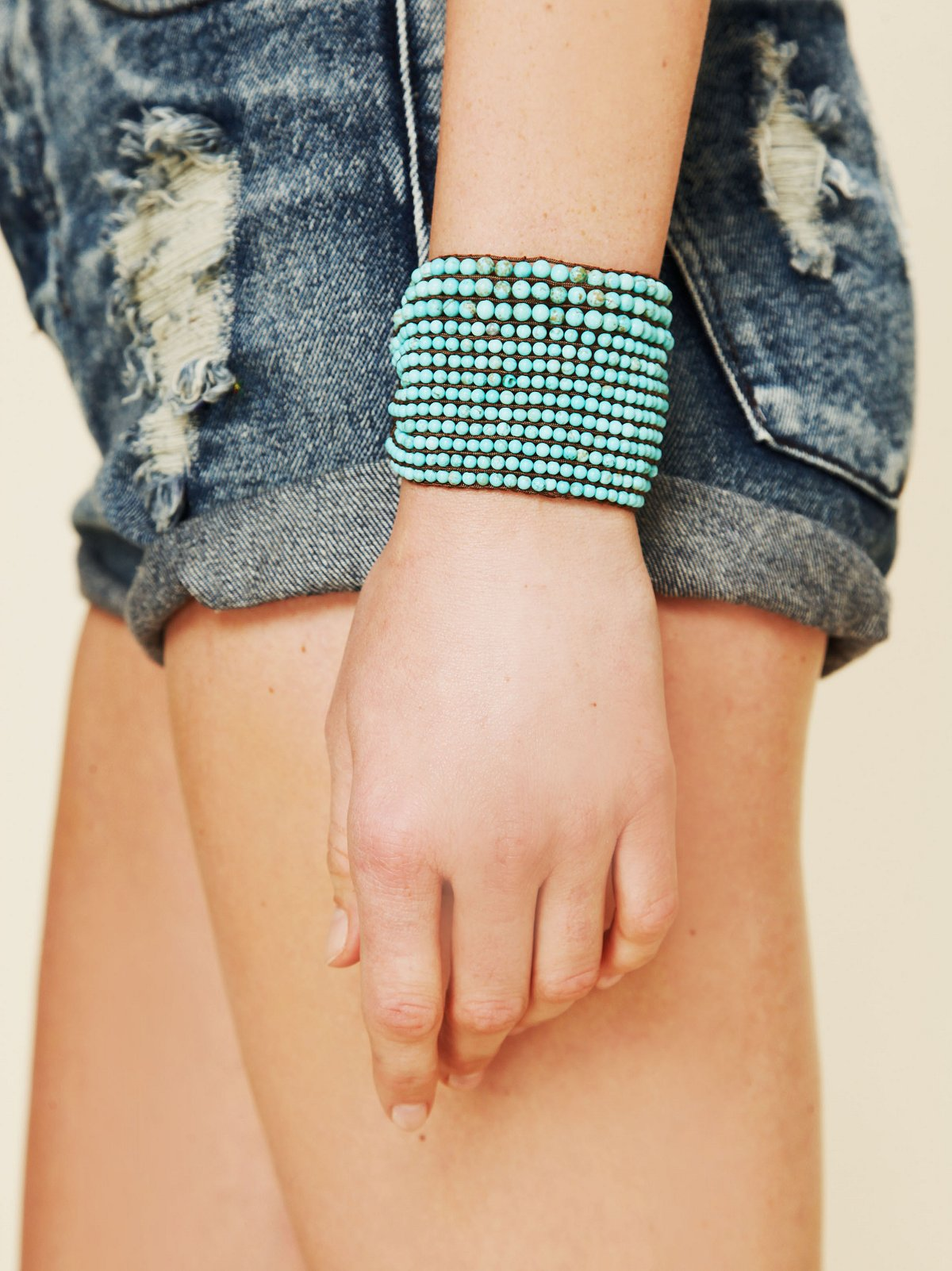 Wide Beaded Friendship Cuff