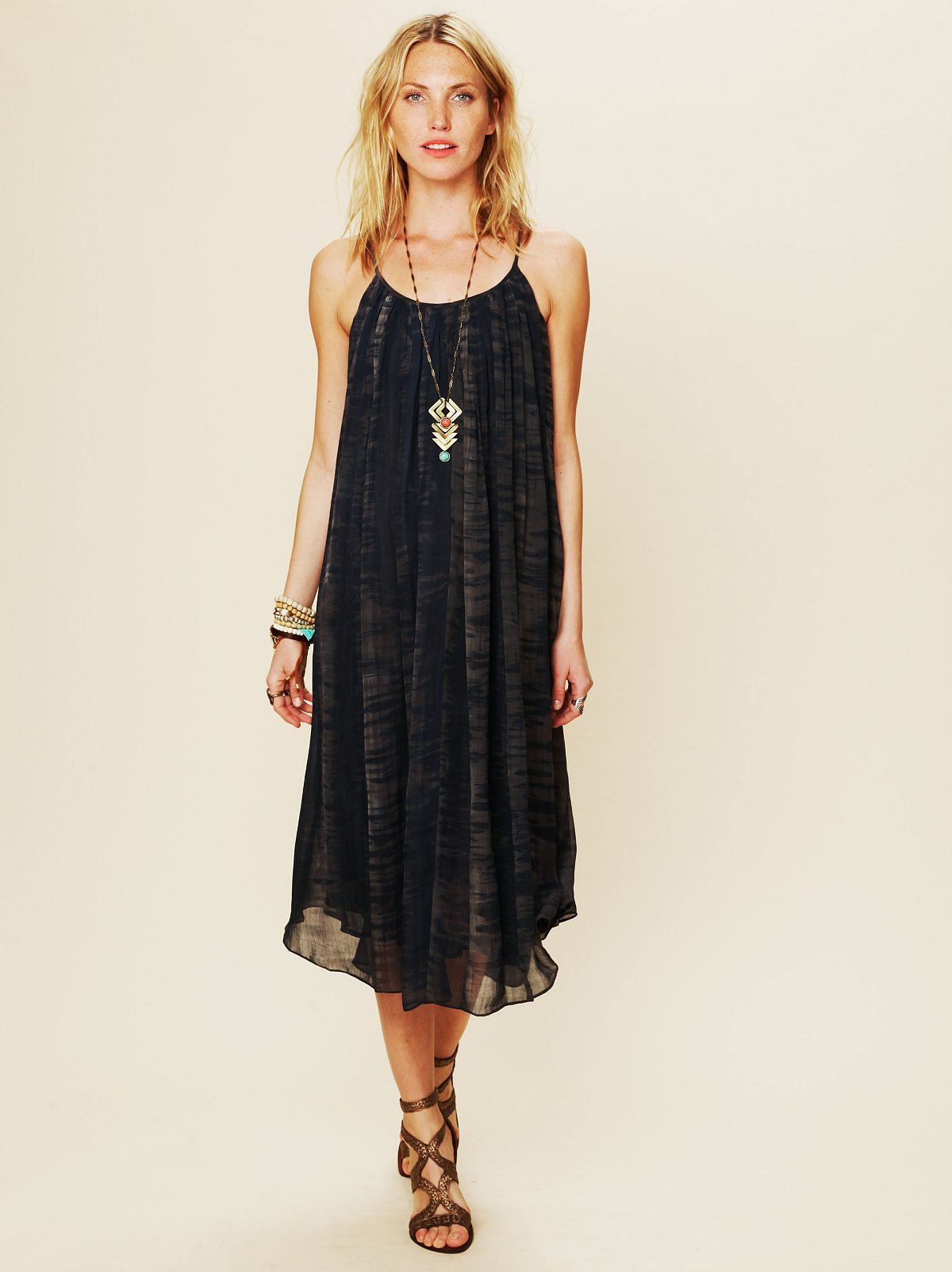 Mirage Print Shapeless Gale Dress