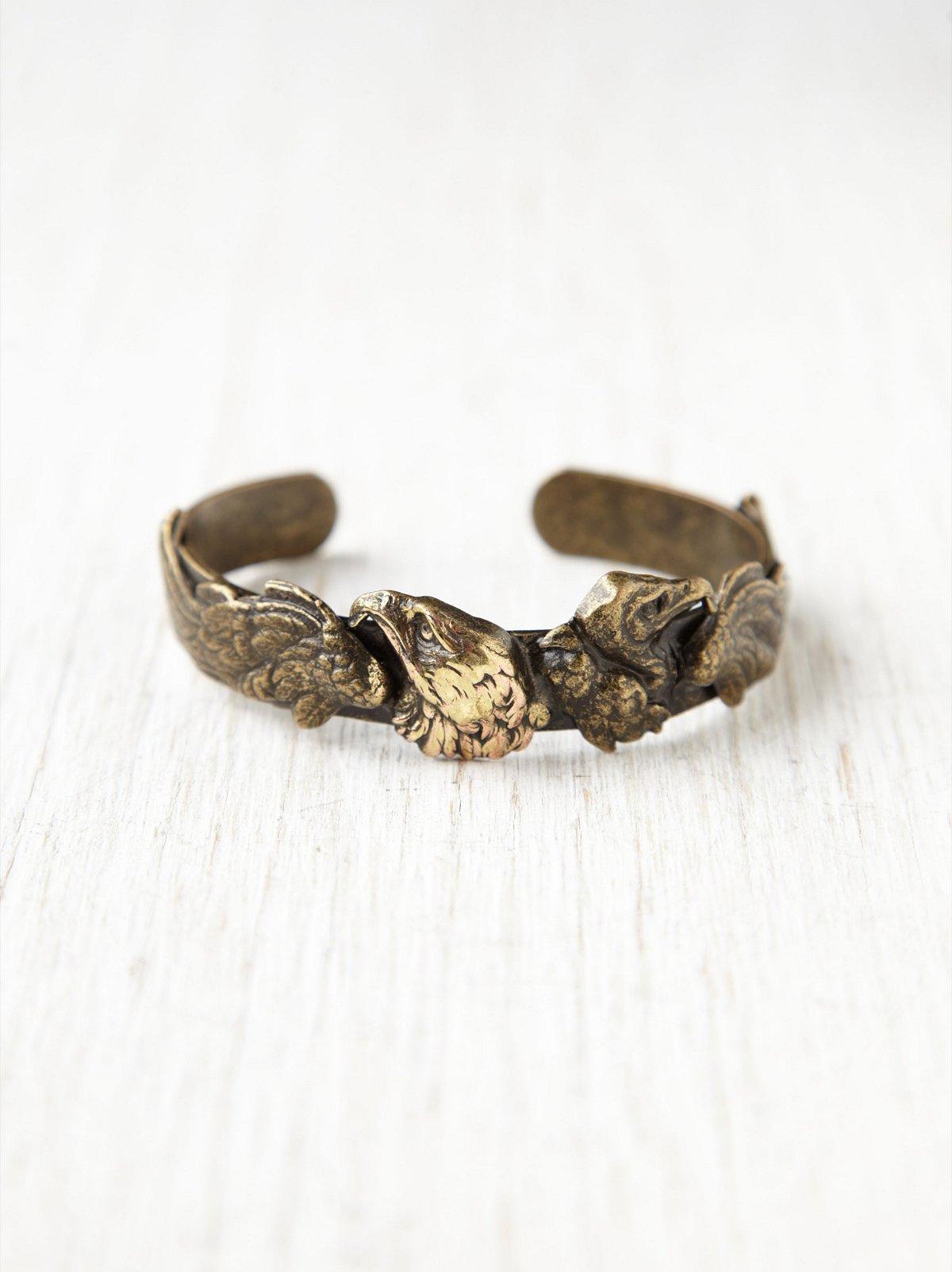 Brass Eagle Cuff