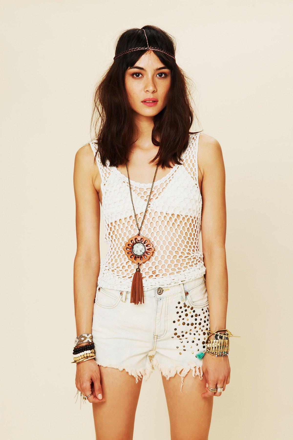 Golden Hippie Studded Cutoff Shorts