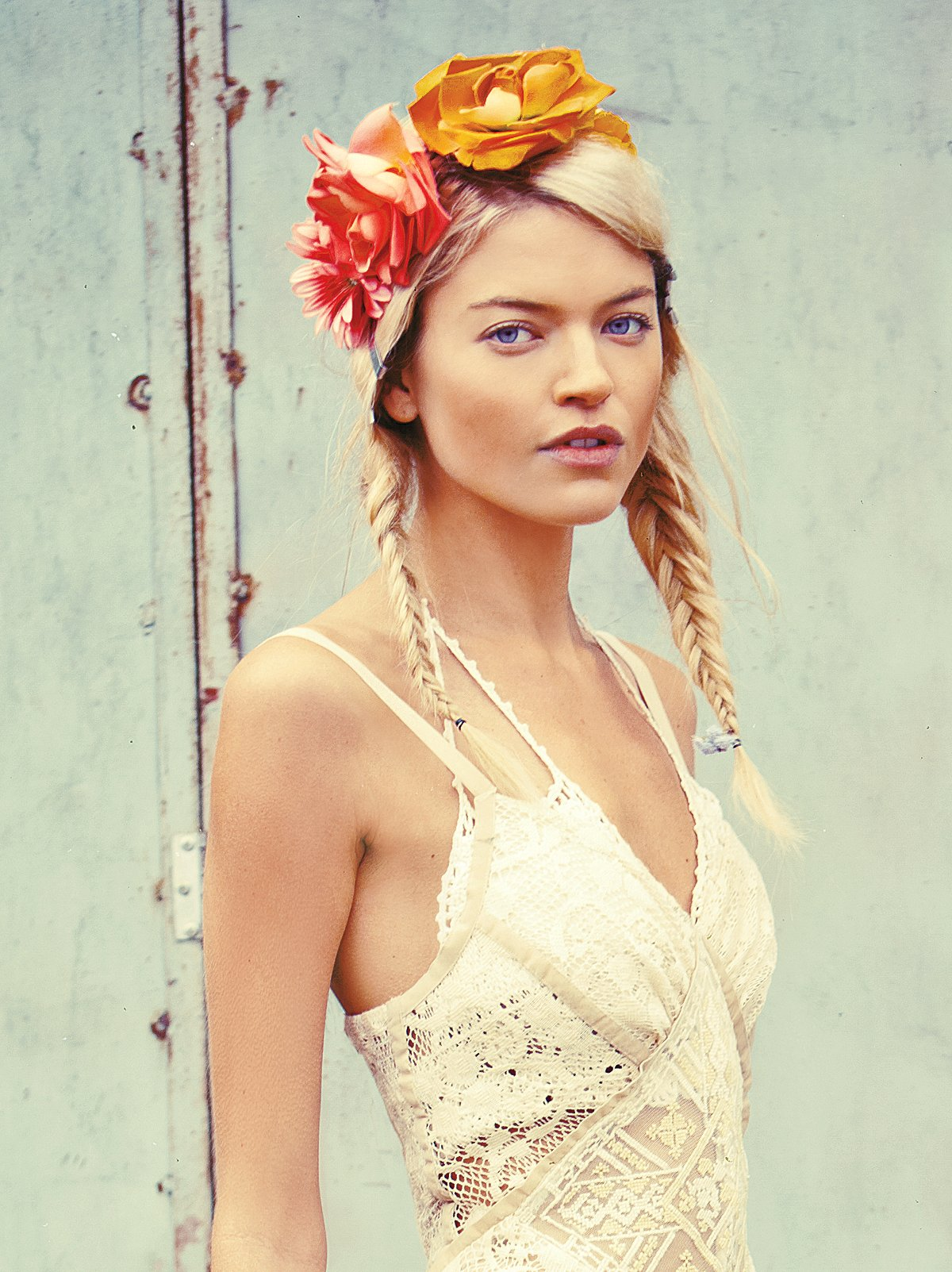 Floral Braided Headdress