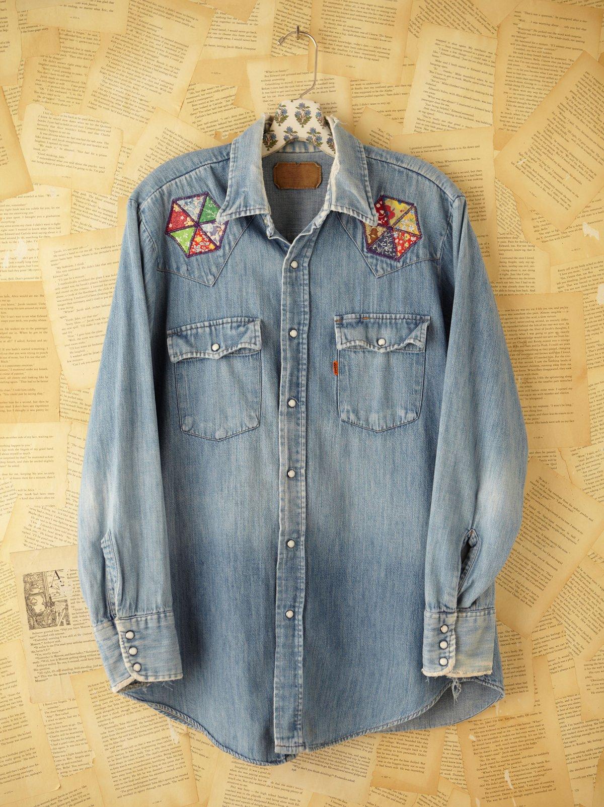 Vintage Quilt Denim Shirt