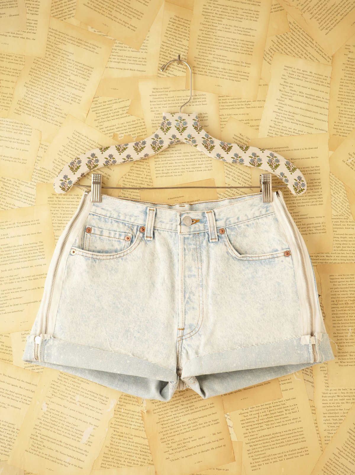 Vintage Acid Wash Denim Cut Offs