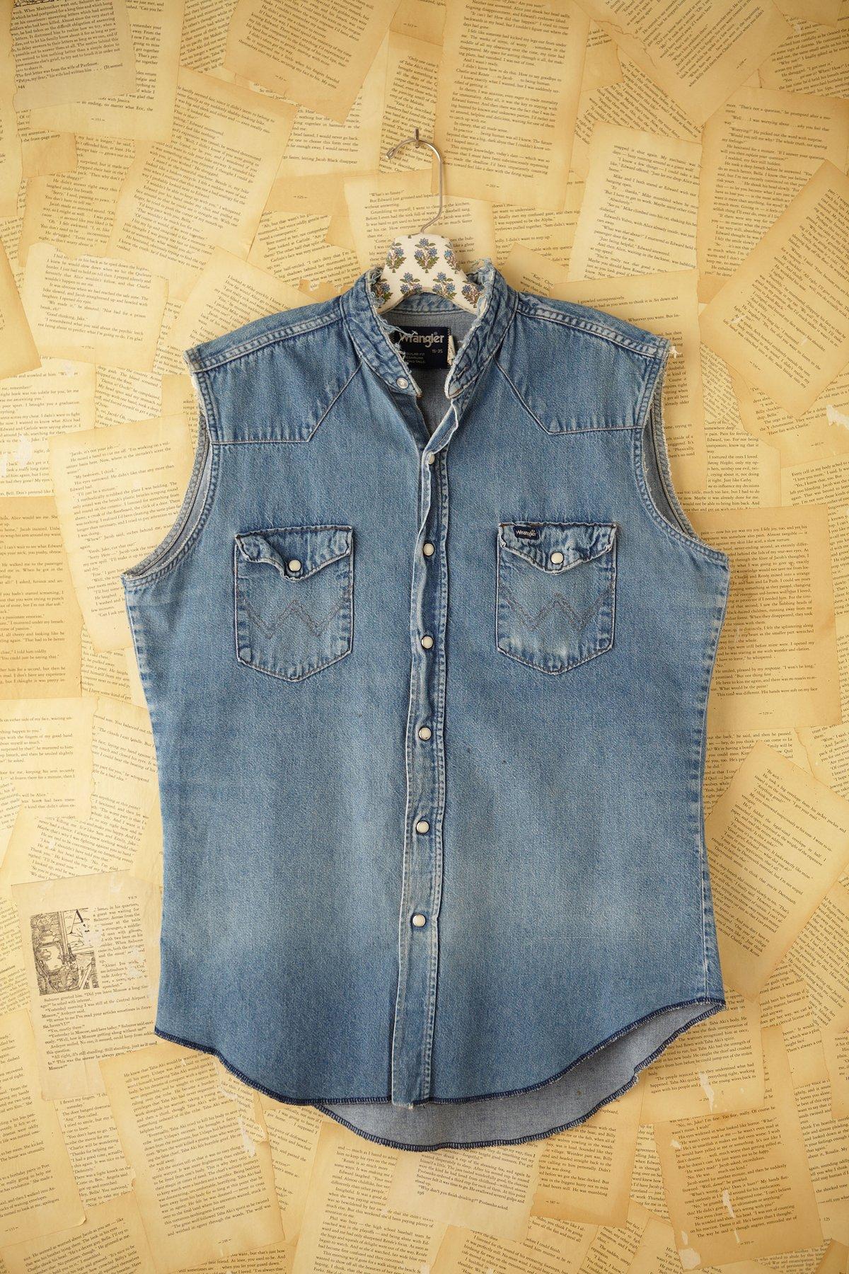 Vintage Wrangler Sleeveless Denim Shirt