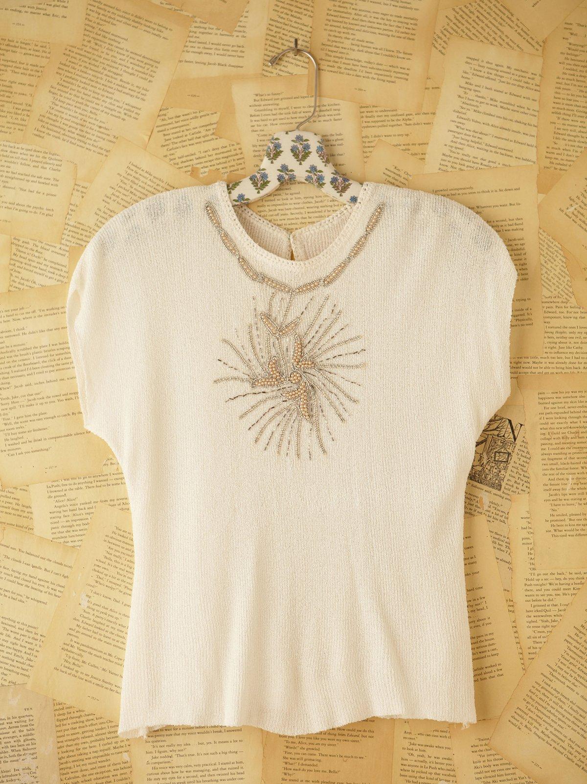 Vintage Boucle Short Sleeve Top