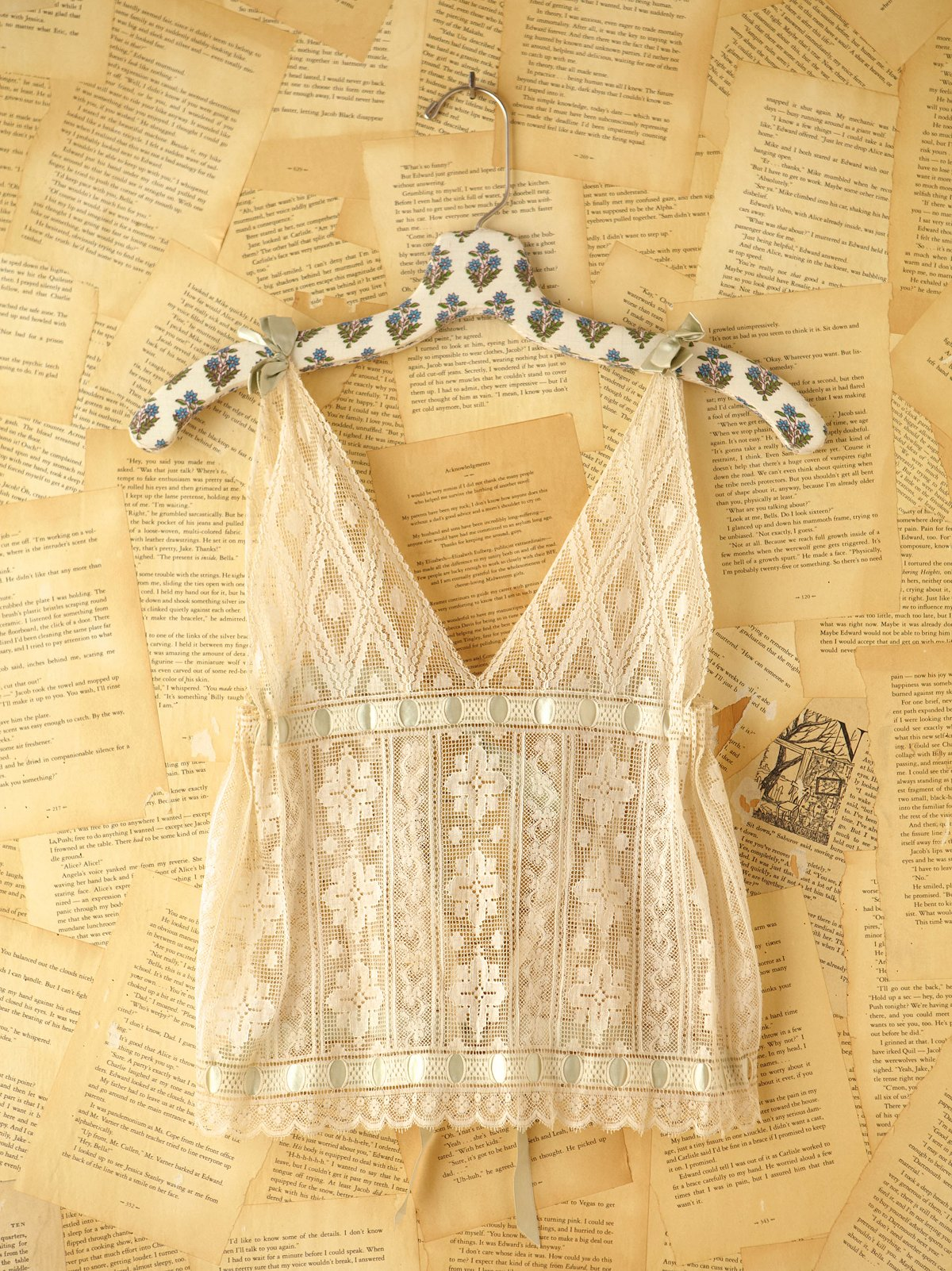 Vintage Lace Tie Top