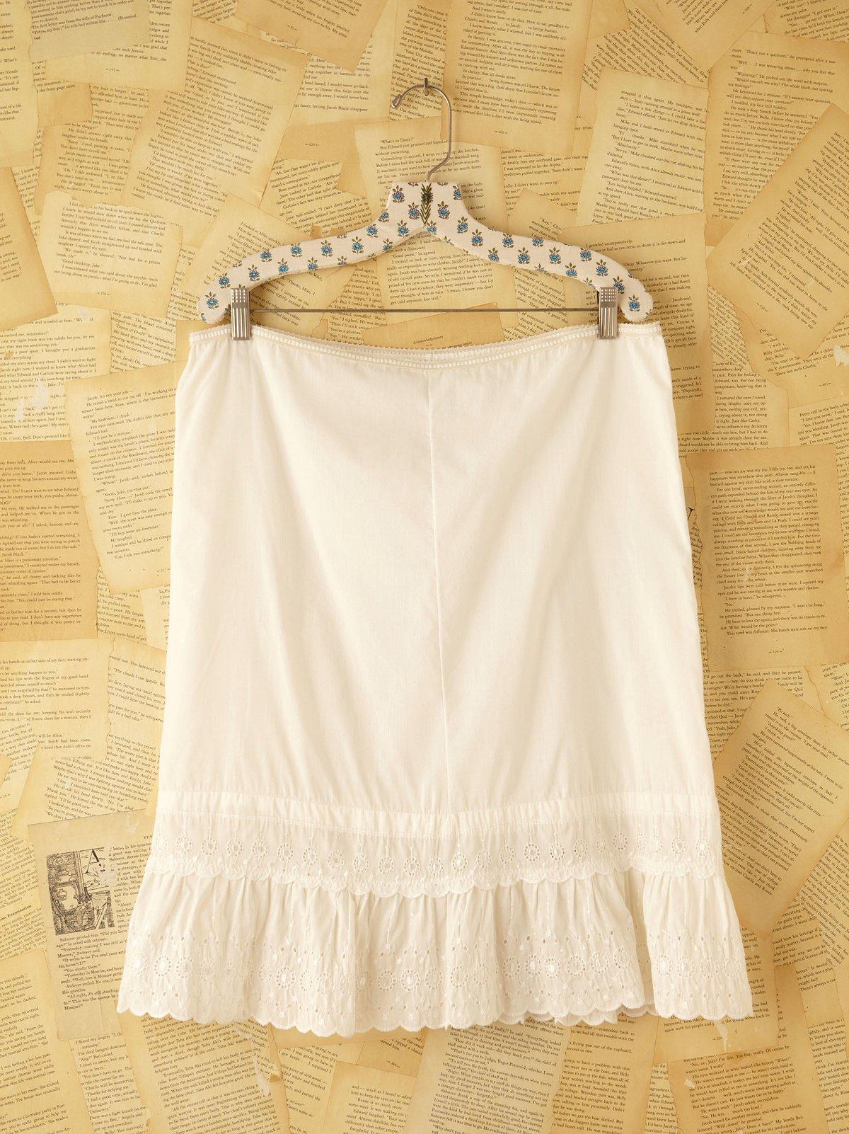 Vintage Cotton Slip Skirt