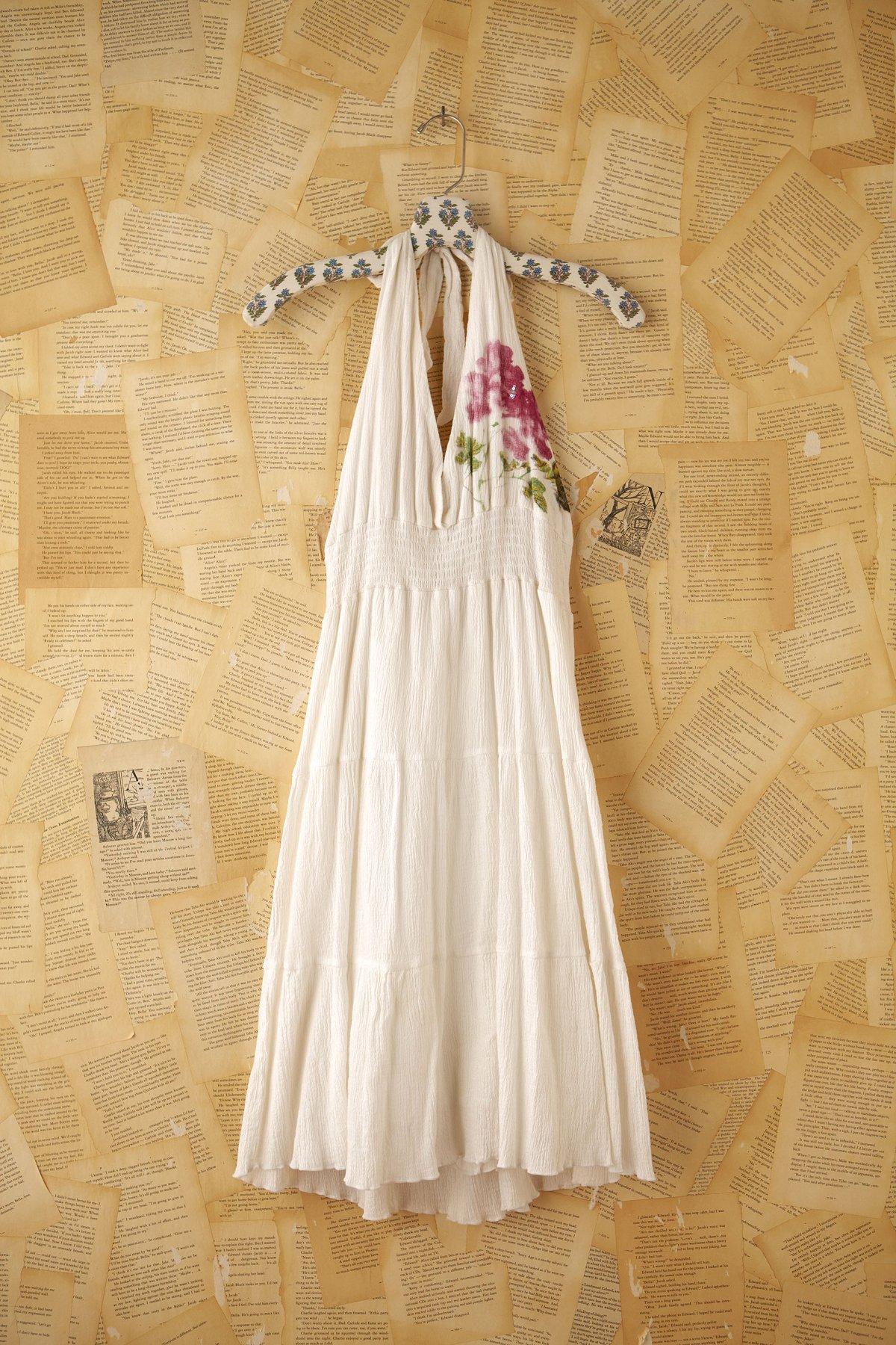 Vintage Halter Dress with Flower
