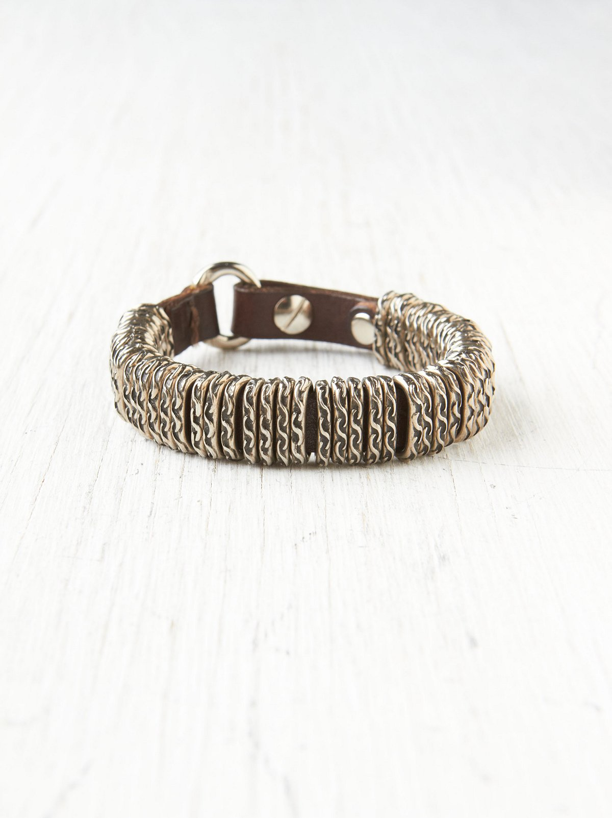 Coiled Leather Bracelet