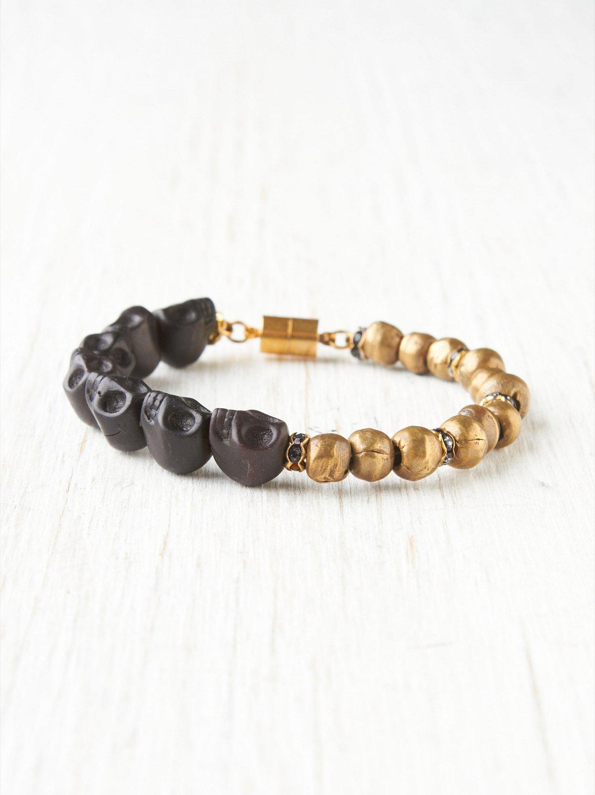 Ebony Skull Bracelet
