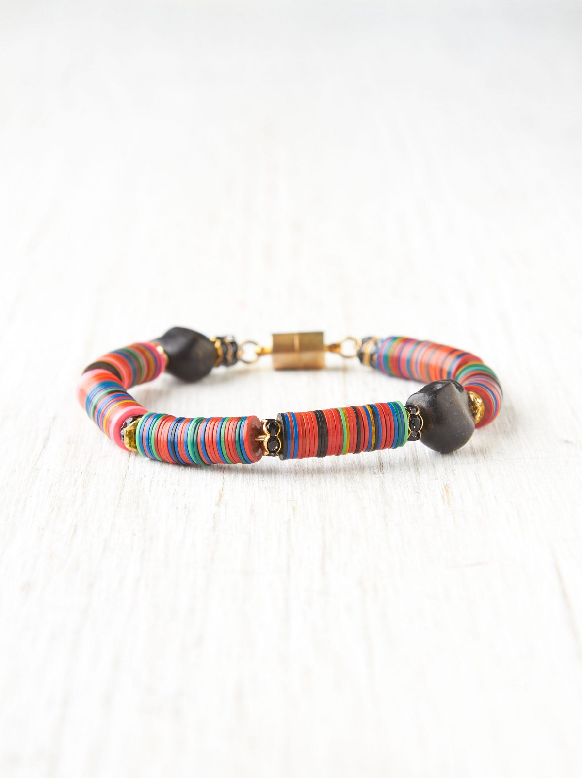 Multicolor Beaded Skull Bracelet